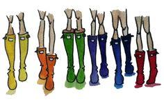 annalise-artsy-area:    Hunter Rain Boots