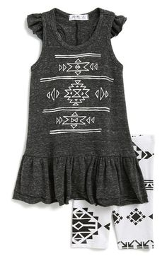 Free shipping and returns on Joah Love 'Ada' Sleeveless Dress & Leggings (Baby Girls) at Nordstrom.com. Crisp geometric graphics steal the show on a sleeveless racerback dress paired with stretchy matching leggings.