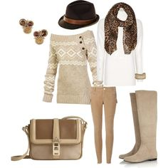 """beige"" by pam-mcgee on Polyvore"