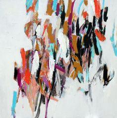 Julie Schumer, Reconciliation, 40 X 40 in., acrylic on canvas www.julieschumer.com