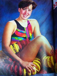 Old school! Janet Evans in the 1994 Runner's World. Running Photos, Runners World, Old School, The Past, Classic, People, Inspiration, Biblical Inspiration, Folk