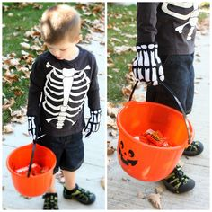 Make your own skeleton gloves for Halloween! @silhouettepins