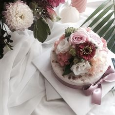 flower cake & rice cake , korea
