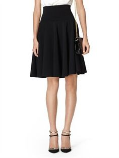 FULL SKIRT WITH RIBBED WAISTBAND, $1,290.00