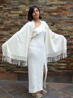 Elegante Sommernächte, Langes #Kleid mit großem #Schultertuch im Set, 100% #Pima #Baumwolle