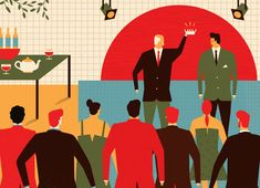 Harvard Business Review / a selection of illustrations on Behance