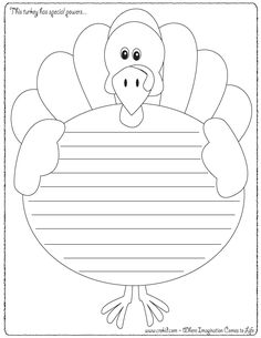 creative kids thanksgiving writing pages, large selection Thanksgiving Stories, Thanksgiving Writing, Thanksgiving Activities, Kindergarten Writing, Teaching Writing, Writing Prompts, Story Prompts, Literacy, Writing Paper
