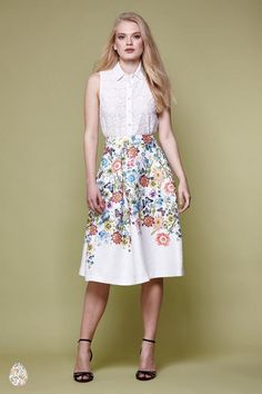 Botanical Jacquard Skirt Ivory   Yumi