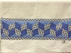 Toalha com barrado em patchwork seminole, varias cores!  Escolha a sua cor!!