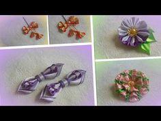 Бантик из ленты 1,2 см/ How to make a bow of ribbons 1.2 cm /kanzashi/Канзаши/ МК/ DIY/ - YouTube