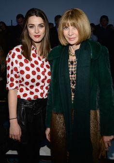 Anna Wintour & Bee Shaffer at Diane Von Furstenberg - Front Row - Mercedes-Benz Fashion Week Fall 2014