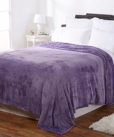Look what I found on #zulily! Smoky Purple Shimmersoft Blanket by Berkshire Blanket #zulilyfinds