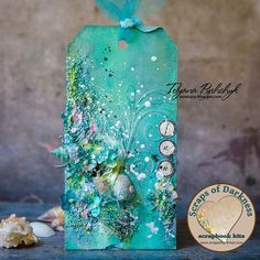 Good morning, and happy Saturday!Today we have a new video tutorial to share, for this gorgeous beach themed tag. Tanya created it with our July Scraps of Darkness kit, An Ocean Tale, and the July Cre