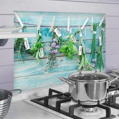 Herbs Kitchen Panels - Home Décor Line Wall Decals