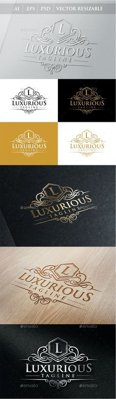 Luxurious Royal Logo Template #design #logotype Download: http://graphicriver.net/item/luxurious-royal-logo/9056932?ref=ksioks