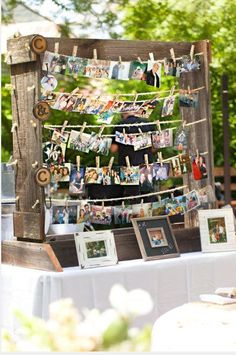 another photo display idea. Outside entrance of barn upon arrival? Or inside?