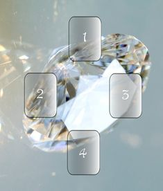 Diamond Clarity Spread (For When You're Clueless) CARD 1: What do I need to know? CARD 2: What must I embrace? CARD 3. What must I avoid? CARD 4: Where from here?