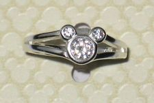 Jewel✿Mickey Mouse Icon Ring✿Sterling Silver✿Walt Disney World Authentic✿Size 6