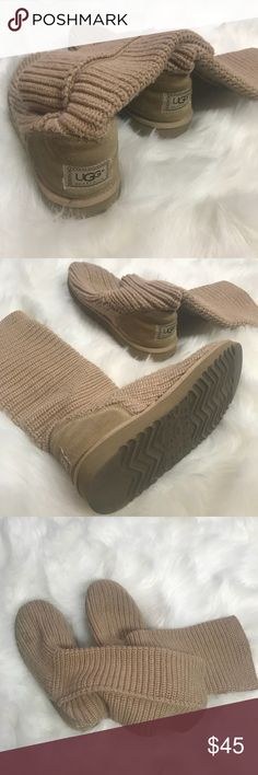 Sweater knit ugg boots 8 nude tan Majorly clearing out my closet of things I haven't worn, don't fit, or don't reach for! Stay tuned for more new, or hardly worn clothing❤️ really looking to downsize, and save money for some big goals in 2018, so please no trades. *idk why a lot of my photos are flipped* | bundle & save🛍 UGG Shoes