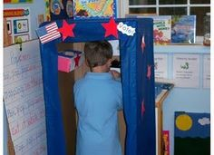Social Studies Elections--should do even if you don't have a box like this--can easily make a voting booth with a desk and a trifold poster! 3rd Grade Social Studies, Kindergarten Social Studies, Social Studies Activities, Teaching Social Studies, Classroom Fun, Classroom Activities, Future Classroom, Classroom Organization, Teaching Activities