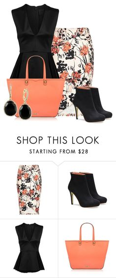 """""""Rebecca"""" by ljjenness ❤ liked on Polyvore featuring Cushnie Et Ochs, Rebecca Minkoff and Effy Jewelry"""