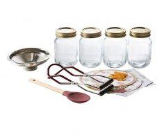 Set 4 borcane cu capac si 47 accesorii pentru gem Sweet