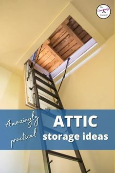 Wish you could use that extra space in your attic to store rarely used items, but aren't sure how to? Here are some great attic storage ideas to help. Attic Storage, Home Organization Hacks, Clothing Organization, Storage Shelves, Organizing, Long Term Food Storage, Diy House Projects, Organize Your Life, Getting Organized