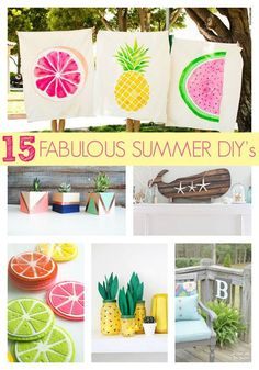 15 fabulous summer DIY ideas everyone will love (www.prettymyparty...) #project #decor #DIY #crafts #summer #gifts #party