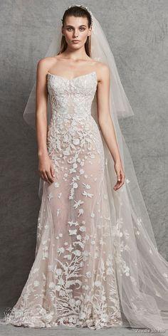 zuhair murad fall 2018 bridal strapless sweetheart neckline full embellishment elegant modified a line wedding dress (3) mv -- Zuhair Murad Fall 2018 Wedding Dresses #wedding #bridal #weddings