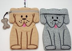 In The Hoop :: Bags, Cases Wallets :: Dog Zipper Case - Embroidery Garden In the Hoop Machine Embroidery Designs