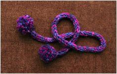 Finger Knitting Tute