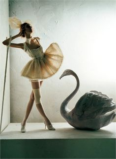 Italian Vogue does Swan Lake.