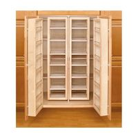 "Woosworkerexoress.com 57"" Wood Swing-Out Pantry Kit, 2-Wood Swing-Out Pantries and 2-Wood Door Mount Units"