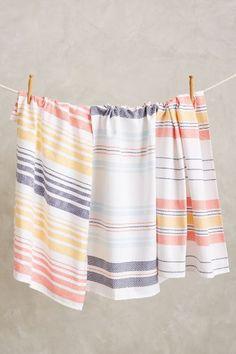 hampton stripe dishtowel set #anthroregistry