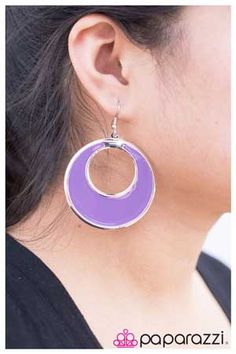 Colorful Crescent (Assorted Colors) - Blockbuster Earring Item #: P8324 A shock of color in a smooth crescent shape is bordered by silver for a classic finish.   Sold as a set of five pairs of earrings of identical design. Set includes one pair of brown, one pair of orange, one pair of white, one pair of gray, and one pair of lavender earrings.