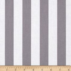 """Riley Blake 1"""" Stripe Grey from @fabricdotcom  From Riley Blake, this cotton print fabric is perfect for quilting, apparel and home décor accents.  Each stripe measures 1'' and is printed parallel to the selvage as pictured. Colors include white and grey. New Orleans Square Theme"""
