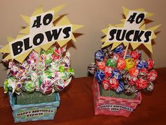 """Awesome 40th Birthday present!      """"40 Sucks"""" and """"40 Blows"""""""