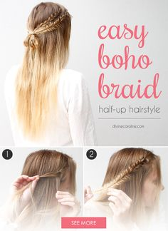 These Half-Up Boho Braids are the Definition of Simple Chic