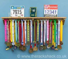 Medal hanger display #holder trophy #shelf - gift for runners #gymnastics triathl, View more on the LINK: http://www.zeppy.io/product/gb/2/111973328701/