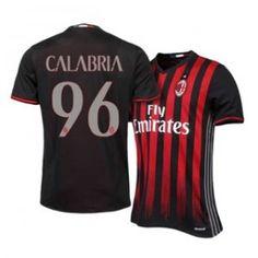 16-17 AC Milan Home #96 Calabria Cheap Replica Jersey [H0071]