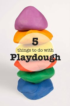 Fail-Proof Playdough recipe and 5 ideas for things to do with it