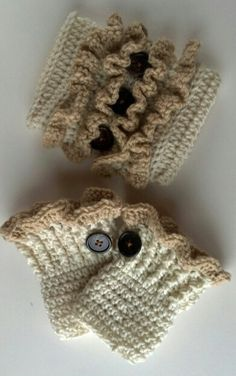 Just finished these toddler boot cuffs and ear warmer