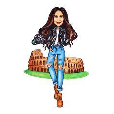 #Custom #cartoon #portrait Custom #illustration #birthday  #girl #print #beauty #inspiration #instagram #fashion #art #cartoon #illustration #morning routine #drawing  #present #markers #copic
