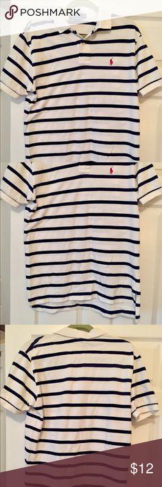 POLO shirt navy/white size medium Great condition! POLO shirt navy/white size medium Polo by Ralph Lauren Shirts Polos