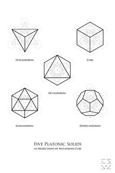esasabove:  Platonic Solids