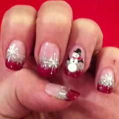 fingerNail art ~Christmas nail done by creative nails in Gravelbourg