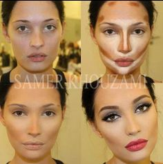Face Make-up Contouring Before & Afters The Work of Samer A. Khouzam - Make-Up Artist Beauty Make-up, Beauty Secrets, Beauty Hacks, Hair Beauty, Beauty Tips, Fashion Beauty, Beauty Products, Face Products, Natural Beauty