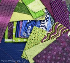 color pallette in printed fabric
