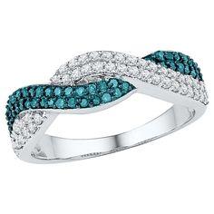 1/2 CT. T.W. Round Diamond Prong Set Fashion Ring in 10K White Gold -