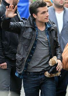 Josh Hutcherson with a teddy :)